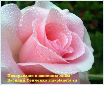 Василий Сенченко поздравляет женщин с 8 Марта